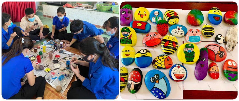 Thanh niên Quảng Bình vẽ tranh đá gây quỹ phòng chống dịch Covid-19