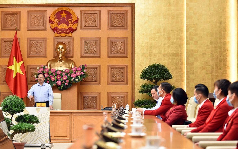 Phó thủ tướng trực tiếp động viên tinh thần cho đoàn thể thao Việt Nam